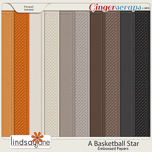 A Basketball Star Embossed Papers by Lindsay Jane