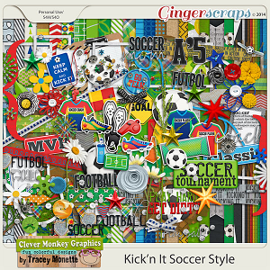 Kick'n It Soccer Style by Clever Monkey Graphics