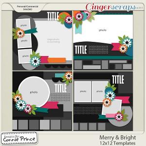 Merry & Bright 12x12 Templates (CU OK)