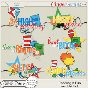 Reading Is Fun - WordArt Pack