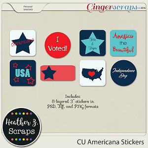 CU Americana STICKERS by Heather Z Scraps