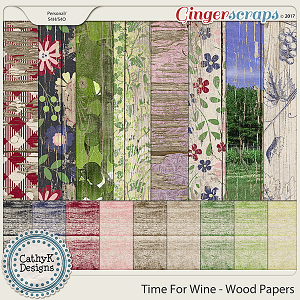 Time for Wine - Wood Papers
