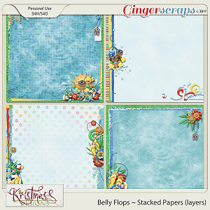 Belly Flops Stacked Papers (layers)