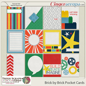 Brick by Brick Pocket Cards by Trixie Scraps Designs