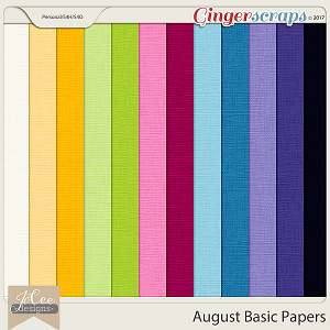 August Basic Papers by JoCee Designs