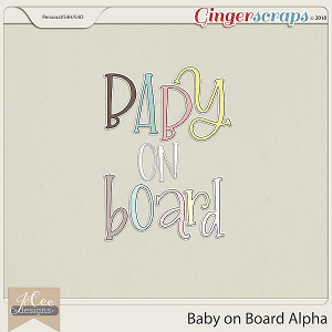 Baby on Board Alphas by JoCee Designs
