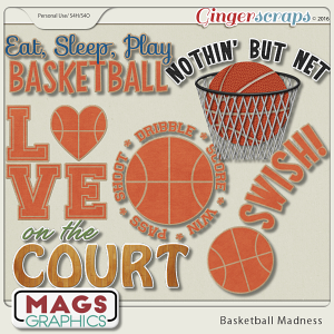 Basketball Madness WORD ART
