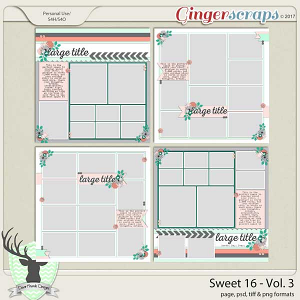 Sweet 16 Vol 3 Templates by Dear Friends Designs