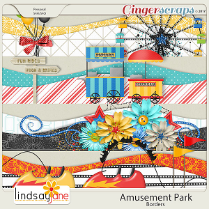 Amusement Park Borders by Lindsay Jane
