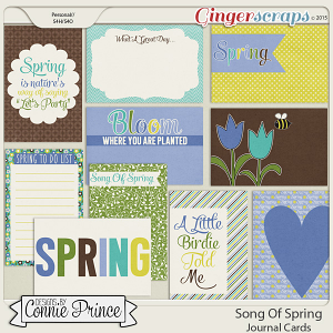 Song Of Spring - Journal Cards