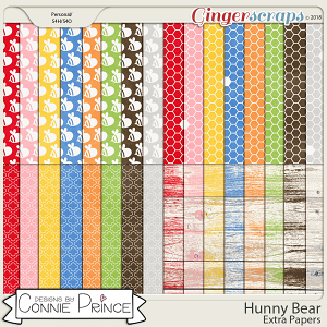 Hunny Bear - Extra Papers by Connie Prince