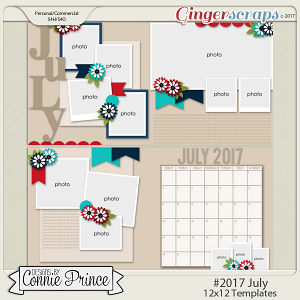 #2017 July - 12x12 Template Pack (CU Ok)