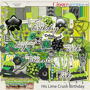 His Lime Crush Birthday by Clever Monkey Graphics