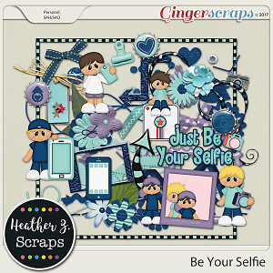 Be Your Selfie BOY ELEMENTS by Heather Z Scraps