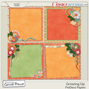 Retiring Soon - Growing Up - PreDeco Papers