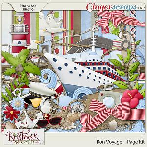 Bon Voyage Page Kit