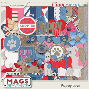 Puppy Love KIT by MagsGraphics