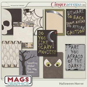 Halloween Horror JOURNAL CARDS by MagsGraphics