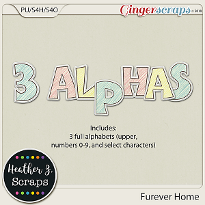 Furever Home ALPHABETS by Heather Z Scraps