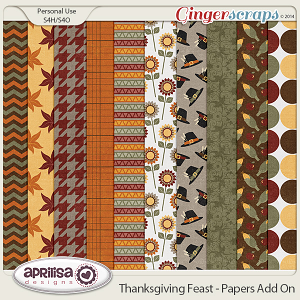 Thanksgiving Feast - Papers Add On by Aprilisa Designs