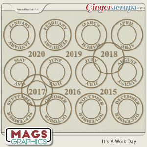 It's A Work Day DATE CIRCLES by MagsGraphics
