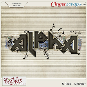 U Rock Alphabet