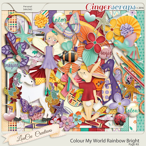 Colour My World Rainbow Bright Page Kit