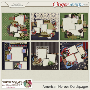 American Heroes Quickpages by Trixie Scraps Designs