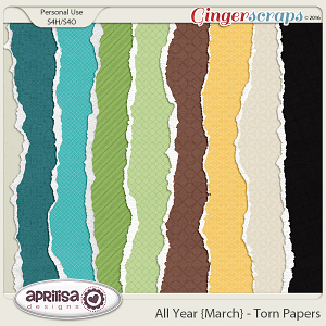 All Year {March} - Torn Papers