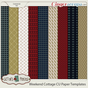 Weekend Cottage CU Paper Templates