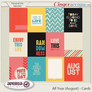 All Year {August} - Cards