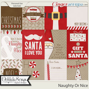 Naughty Or Nice Journal and Pocket Scrap Cards
