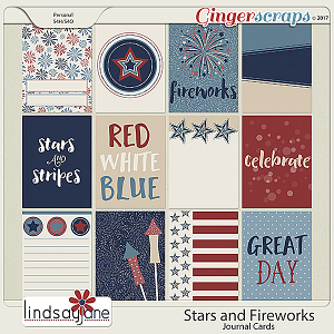 Stars and Fireworks Journal Cards by Lindsay Jane