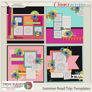 Summer Road Trip Templates by Trixie Scraps Designs