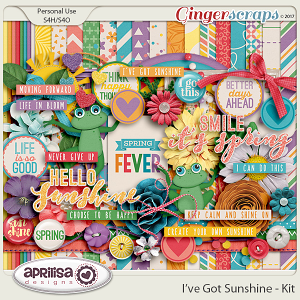 I've Got Sunshine - Kit by Aprilisa Designs