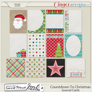Retiring Soon - Countdown To Christmas - Journal Cards
