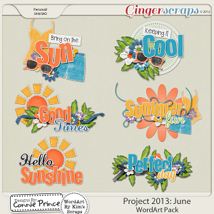 Project 2013: June - WordArt Pack