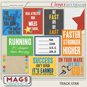 Track Star JOURNAL CARDS by MagsGraphics