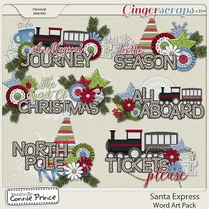 Santa Express - Word Art