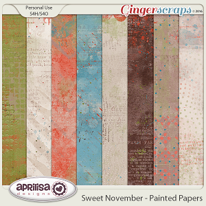 Sweet November - Painted Papers by Aprilisa Designs