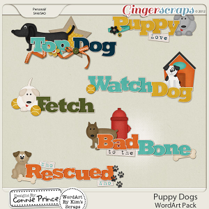 Puppy Dogs - WordArt