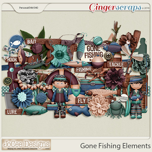 Gone Fishing Elements by JoCee Designs