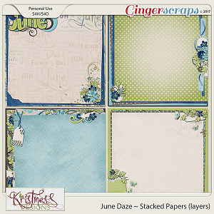 June Daze Stacked Papers (layers)
