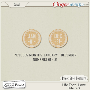 Project 2014 February:  Life That I Love - Dates