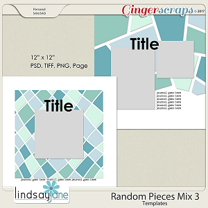 Random Pieces Mix 3 Templates by Lindsay Jane