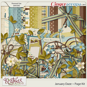 January Daze Page Kit