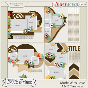Made With Love - 12x12 Templates (CU Ok)