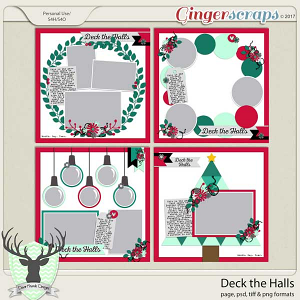 Deck the Halls Template Set