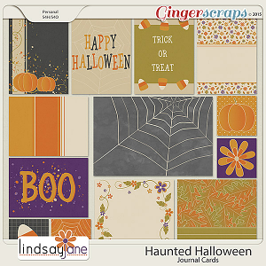 Haunted Halloween Journal Cards by Lindsay Jane