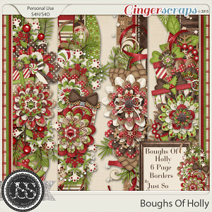 Boughs Of Holly Page Borders